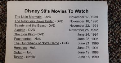 Disney Movies of 90's